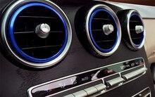 7pcs Blue Interior Air Vent Outlet Ring Cover Trim Sticker for Mercedes  Benz C Class 2015 W205 C180 C200 C250 C300   GLC 2016 406c6d9fe911