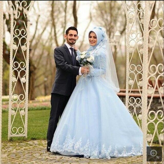 9f8d84c67d0 Robe De Soiree Arabic Muslim long sleeve high neckline prom dress 2017 ball gown  modest women vintage gothic prom dresses