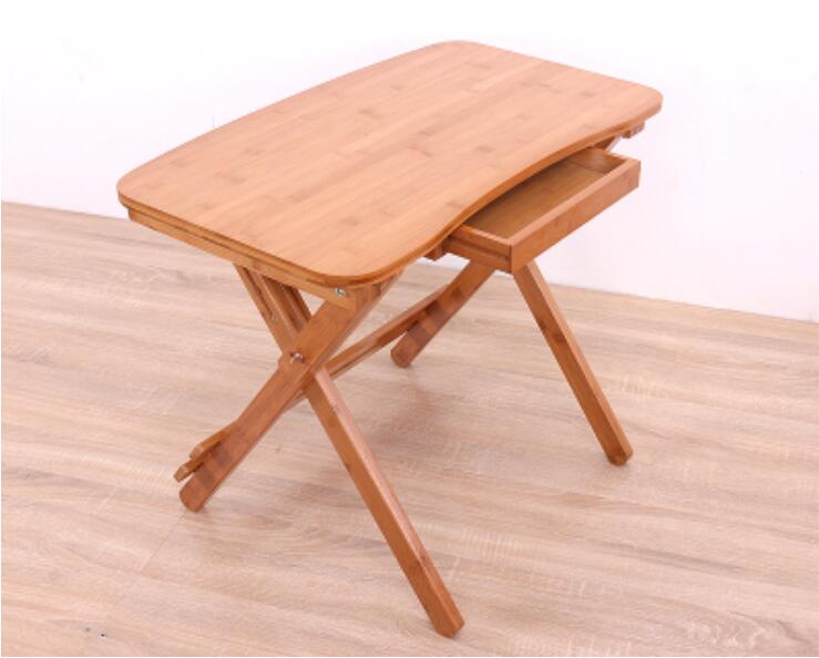 70*41cm Bamboo Folding Learning Desk Study Writing Desk Children Table With Drawer