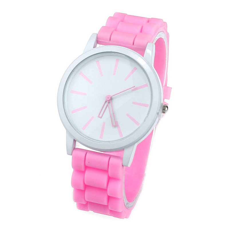 Luxury Women Watch Silicone Rubber Unisex Quartz Analog Sports Women Fashion Wrist Hot Pink For Lovely Girls #4m14 (13)