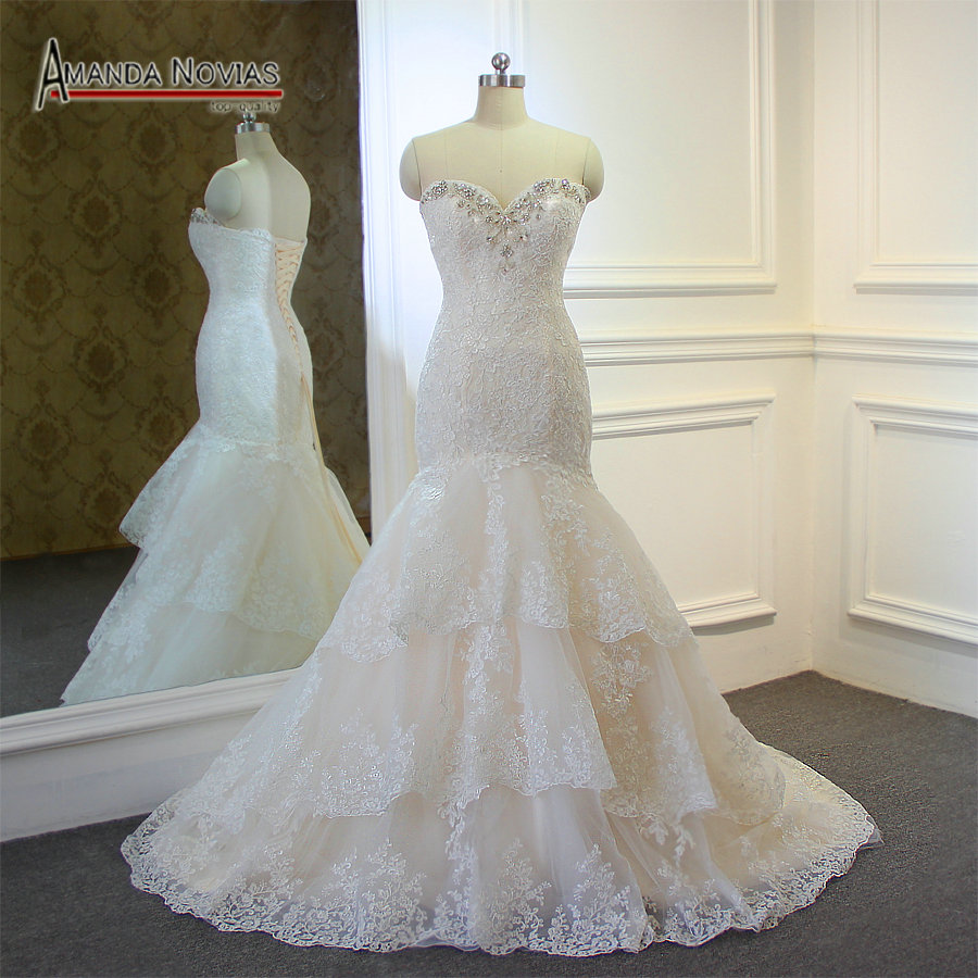 Online buy wholesale wedding dresses from china wedding for Ivory champagne wedding dress