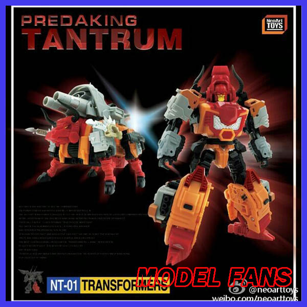 все цены на  MODEL FANS IN-STOCK neoart toys ko MMC Transformation robot  Predaking Tantrum Rhino bison freeshipping  онлайн
