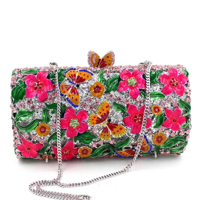 Cristal Soirée Femmes 7 Partie Papillon Multi Floral 5 De Dimond En 3 7 Embrayages Sac 2 6 Couleurs D'embrayage Pour À Dîner Main couleur Bourse 4 1 CAqAwxfT