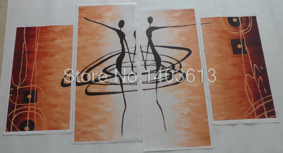 Hot 4 Pcs Set Modern Abstract Figures Painting Printed on Canvas