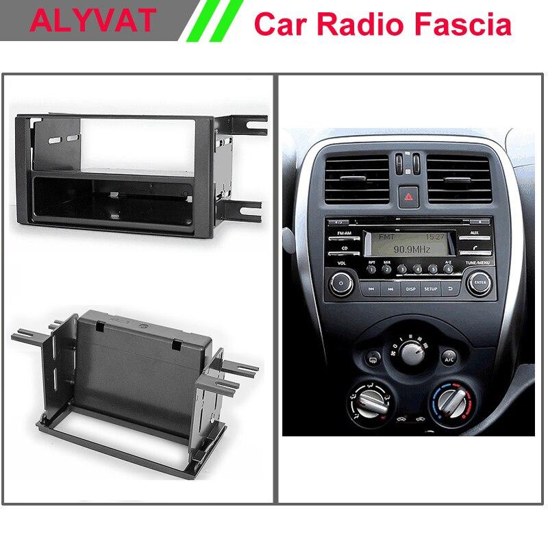 Auto Car CD DVD Radio Fascia Panel for NISSAN Micra (K13), March 2013+ Stereo Dash Facia Trim Surround Installation Kit