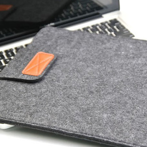 "Image 5 - Wool felt laptop bag Portable notebook sleeve case for women fashion macbook pro air computer pocket 11"" 12"" 13 14"" 15,15.6 inch"