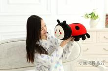 creative toy lovely cartoon ladybird plush toy about 40cm ladybug soft pillow, birthday present Xmas gift c731