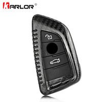 2018 New 100% Genuine Carbon Fiber Car Auto Remote Key Case Cover fob Holder Skin Shell for BMW X5 X6 F15 F16 Car Styling