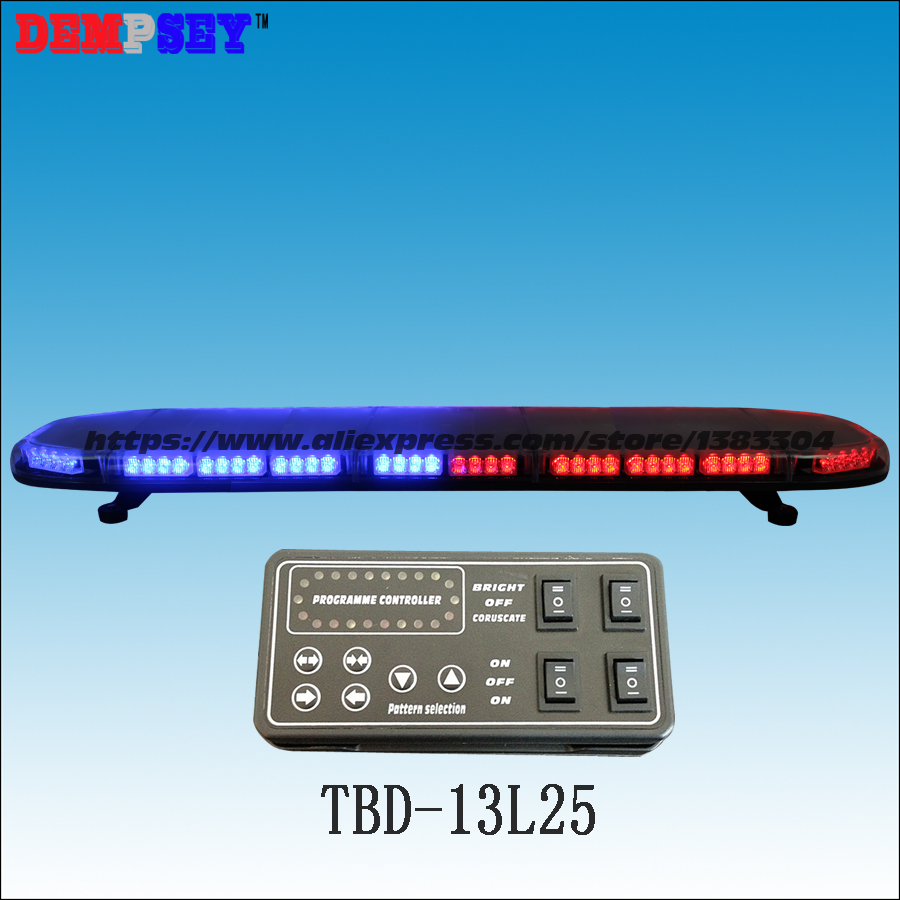 Blau & Rot Notlicht Tbd-13l25 Hochwertige Led Super Helle Lichtbalken Auto Dach Blinkendes Warnlicht