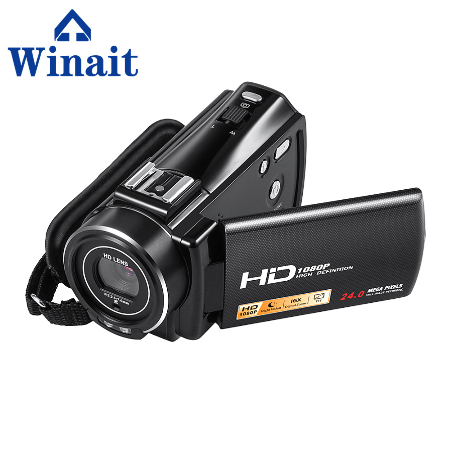 Full HD 1080P Digital Video Camcorder Professional 24 Mega Pixels DV 16X Digital Zoom,Support Face&Smile Detection kaure 2016 1080p full hd 16x digital zoom digital video camera camcorder with lcd night shot max 24mp support face detection