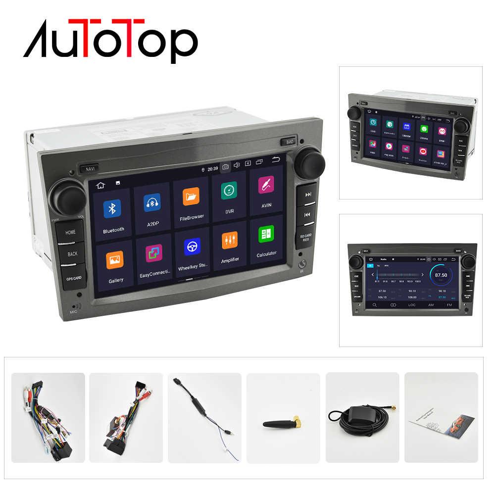 """AUTOTOP 2 ディンアンドロイド 9.0 カー DVD GPS オペル Vauxhall Meriva でベクトラアンタラ Zafira Corsa Agila で 7"""" GPS ラジオプレーヤーなし DVD"""