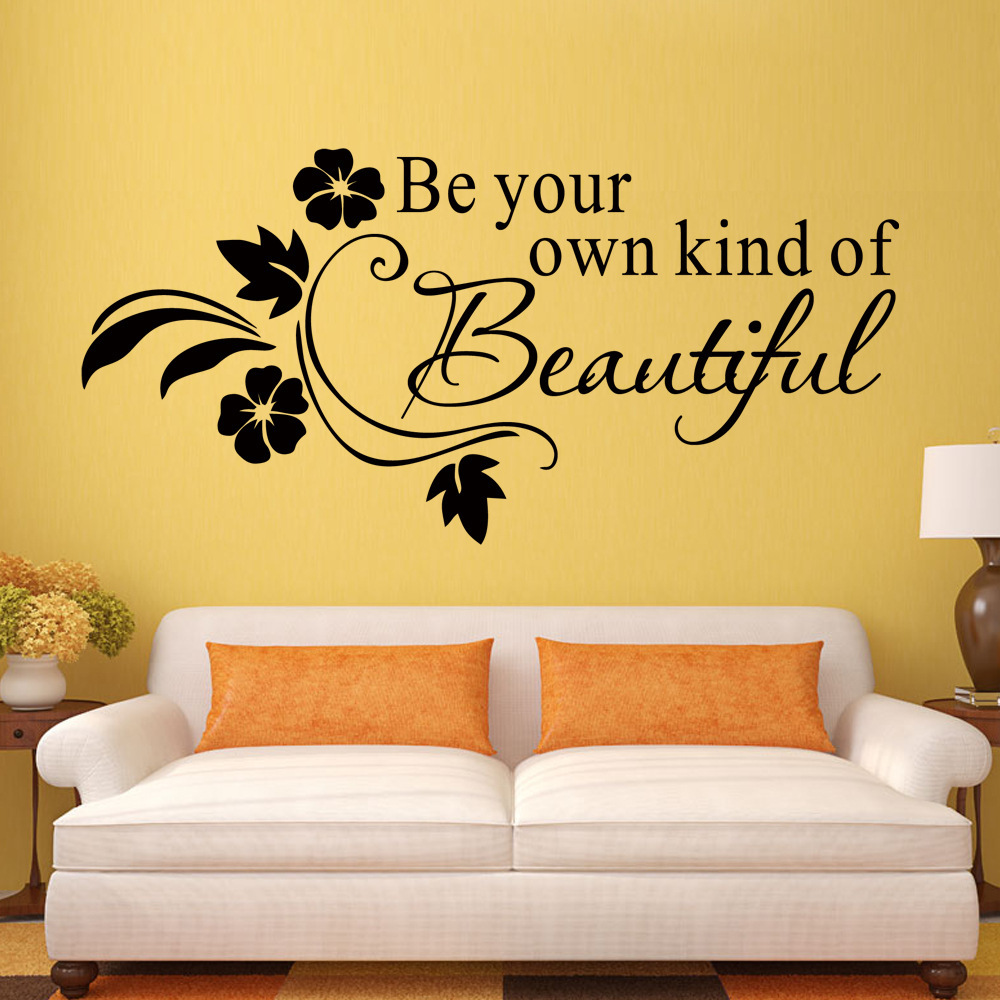 Beautiful Flower Vine Wall Decals Quotes Removable Vinyl Art ...