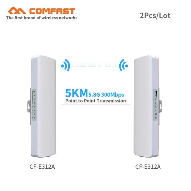 2 pcs 5.8G 300 300mbps zewnątrz CPE bezprzewodowy mostek i wifi repeater wzmacniacz punkt-punkt transmisji wifi 3 km Nanostation router
