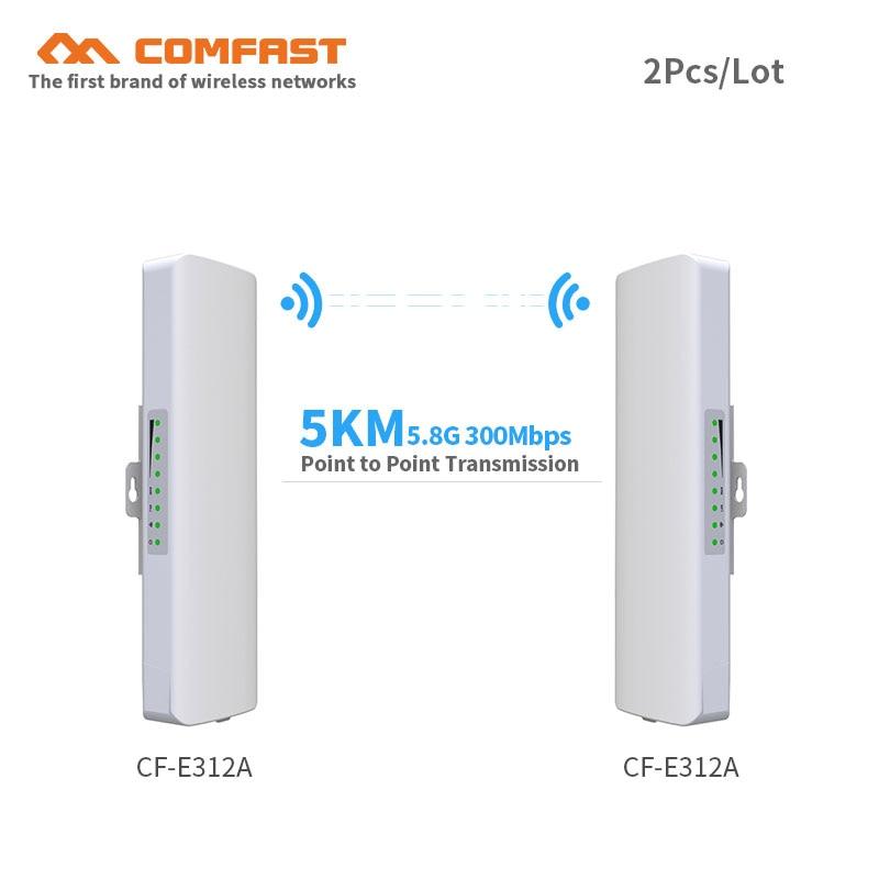 2 pz 5.8g 300 Mbps outdoor CPE wireless bridge & ripetitore wifi amplificatore punto a punto wifi di trasmissione 3 km Nanostation router