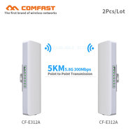 2pcs 5 8G 300Mbps Outdoor CPE Wireless Bridge Wifi Repeater Amplifier Point To Point Wifi Transmission