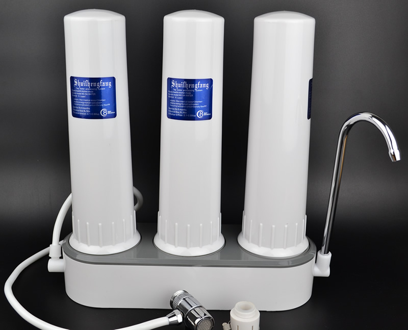 3-level filter water purifier,ABS shell, Faucet-mounted ,descaling,more pure and secure,Reusable Filter,Replaceable cartridge