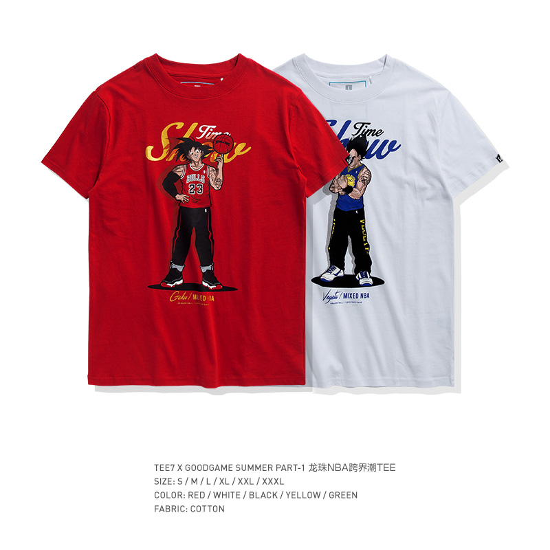 1d084be8ef84d TEE7 Men Casual Short Sleeve T-shirt Dragon Ball Top Playful Cotton Anime  Printed Shirt Male O-Neck Party Fitness Blouse