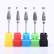 1pcs Carbide Tungsten Milling Cutter Burrs Electric Nail Drill Bit 5 Types Cuticle Polishing Tools for