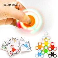 JIMMY BEAR 1 Pcs LED Light Hand Finger Spinner Fidget Plastic EDC Hand Spinner For Autism