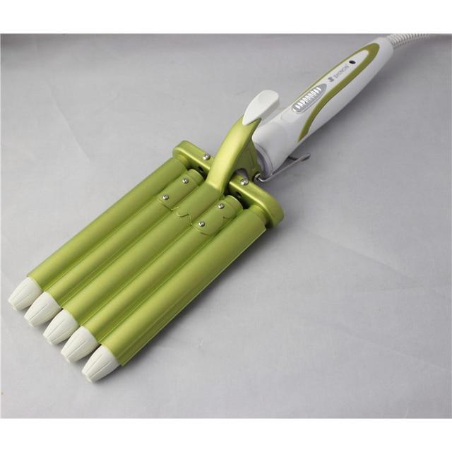 Hair Rooler Perm Splint Ceramic Hair Curler 5 Barrels Big Wave Hair Curling Iron Hair Waver Curlers Styling Tools