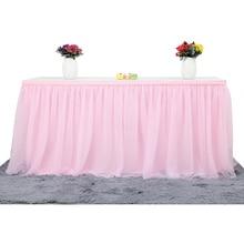 Многоцветный юбка для стола посуда ткань свадебная пачка Тюлевая оборка для стола Baby Shower вечерние украшение на стол для дома плинтус день рождения