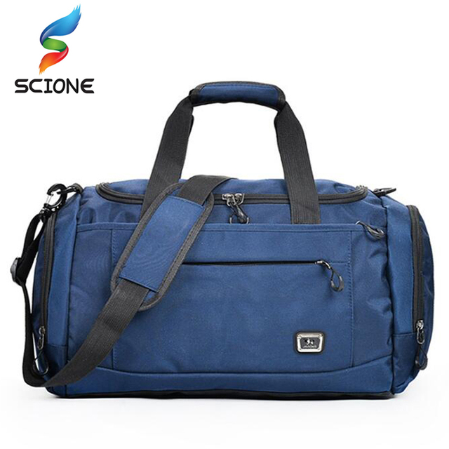 Hot Top Nylon Outdoor Unisex portable Waterproof Sports Gym Bags Professional Men And Women Large Capacity Gym Training Bag