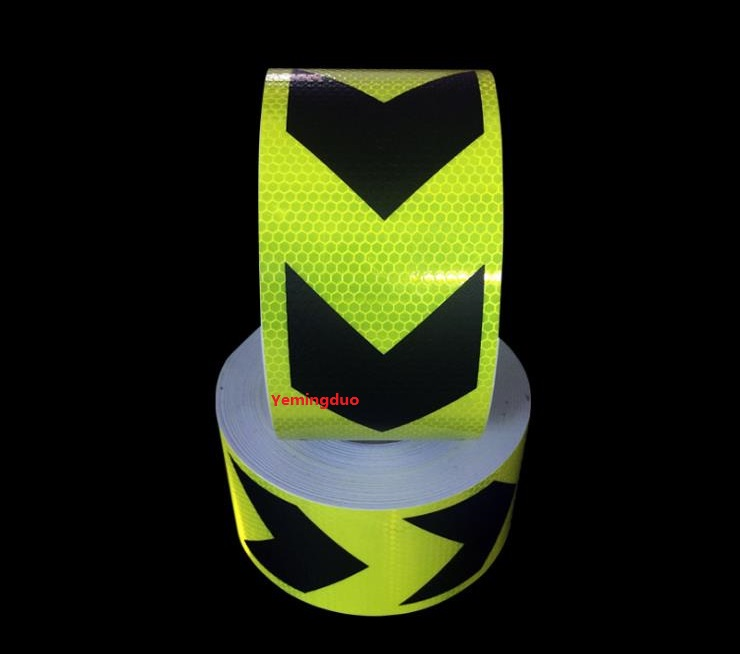 Yemingduo 10CM*45.7M Road Traffic Safety Warning Reflective Tape For Construction Sites, Road Works