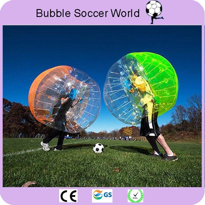 2018 Vendite Calde 1.5 m Bolla di Aria di Calcio Sfera Dello Zorb Palla Loopy palla di Criceto Umana Gonfiabile Palla Paraurti Palla Bolla di Calcio per Gli Adulti