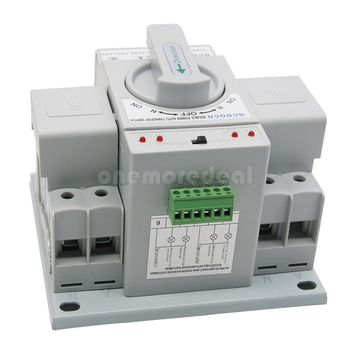 Automatic Transfer Switch 2P 63A 220V Toggle Switch Dual Power GCQ2-63/2P