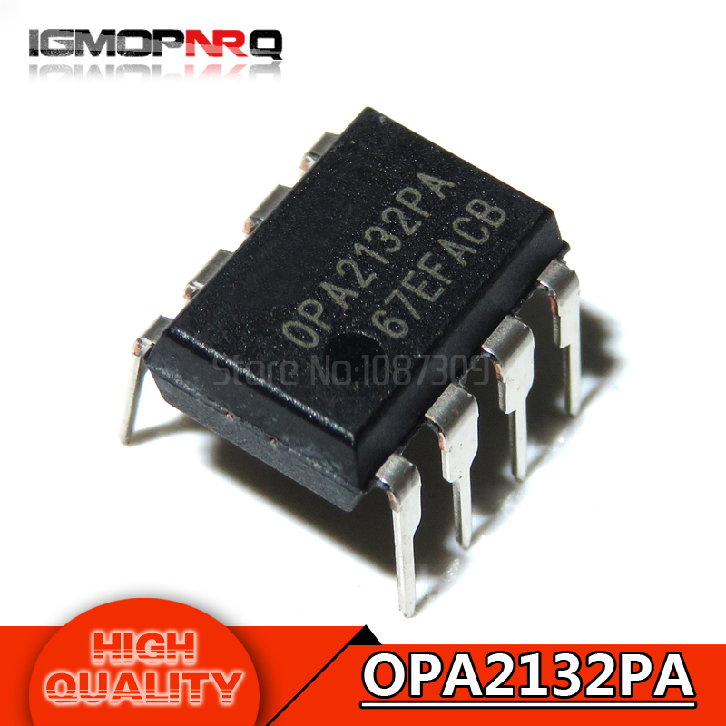 10pcs New Original Opa2134pa Opa2134 Dip-8 Ic Chip Audio & Video Replacement Parts Accessories & Parts