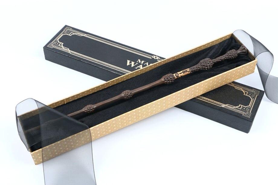 Vendita calda Harry potter Colsplay Metallo/Nucleo di Ferro Vecchi Albus Silente Bacchetta/Harry Potter Bacchetta Magica Regalo scatola di Imballaggio