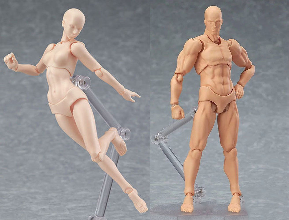 CHAN / Kun He She PVC Movebale Action Figure Skin Color Nude Male Female Figures Bodies Collections Gifts 17cm 2.0 Youth Edition shfiguarts pvc body kun body chan body chan body kun grey color ver black action figure collectible model toy