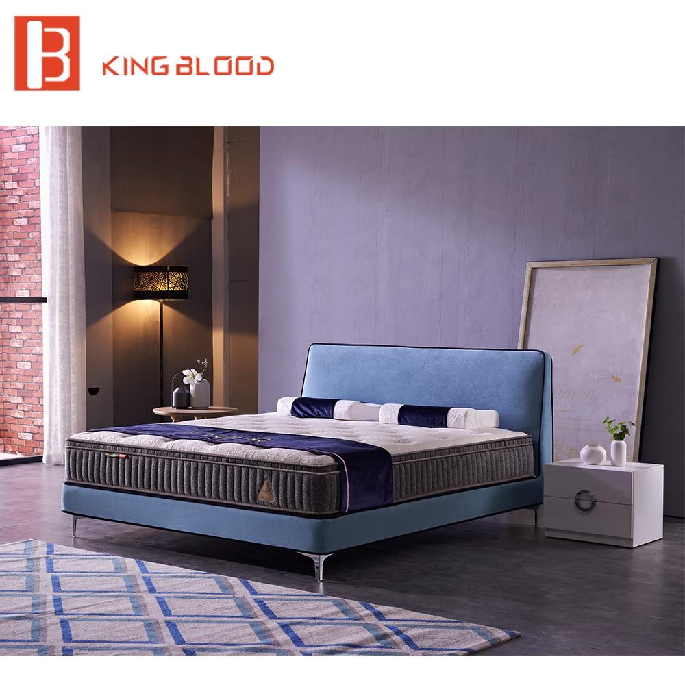 US $640.0 |Italiana moderna camera da letto mobili in legno di teak letto  matrimoniale disegni letto queen size-in Letti da Mobili su AliExpress