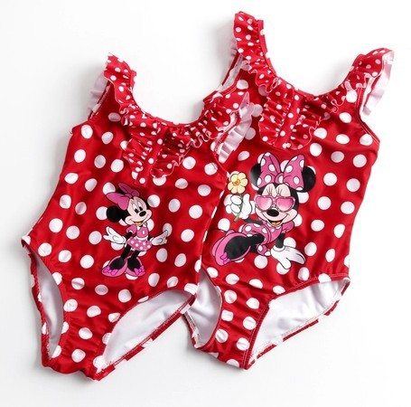 e71c235496bee new design baby girls' swimsuit / swimwear babies' beach wear/swimming wear  infant minnie mouse bathing suits red color hot sale