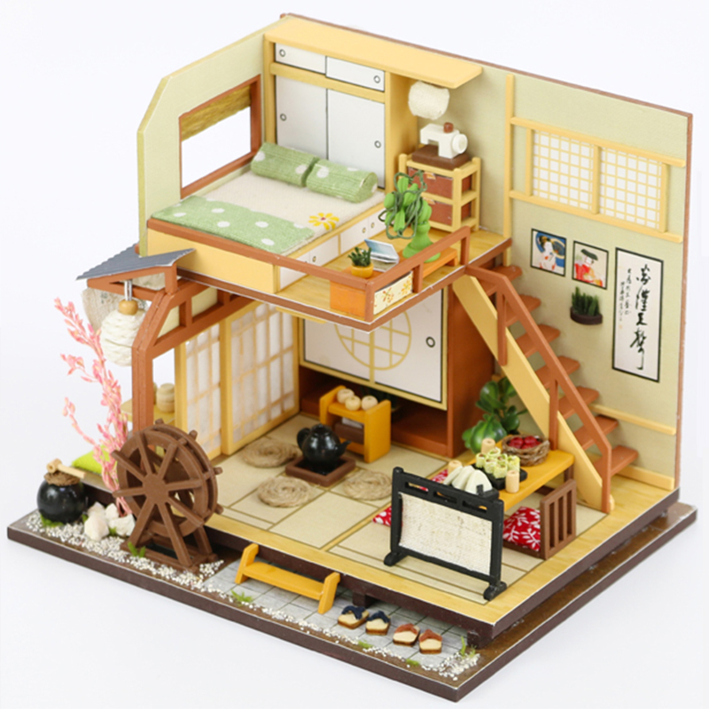 Us 3 89 39 Off Cutebee Diy Doll House Wooden Doll Houses Miniature Dollhouse Furniture Kit Toys For Children Christmas Gift M034 In Doll Houses From