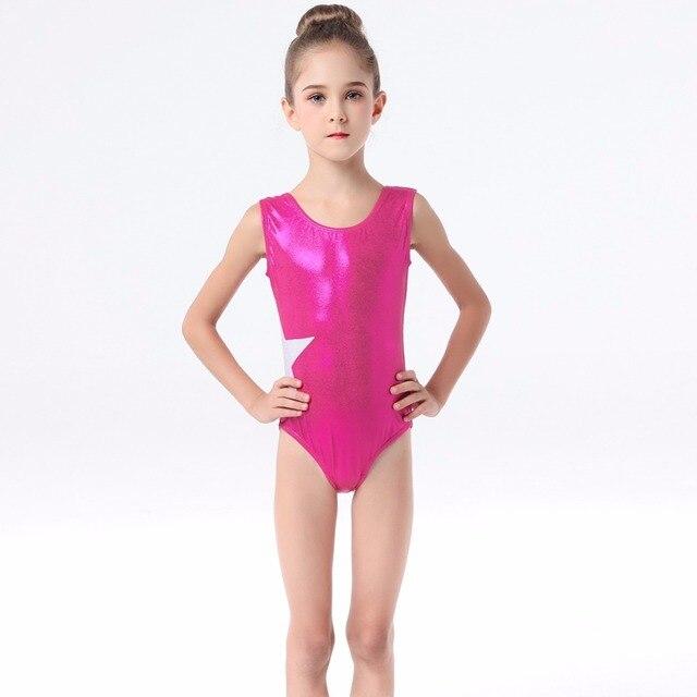 4e33d09bf0 Teen Girls Formal Ballet Dance Fashion Sleeveless Side Star Patchwork  Gymnastics Leotard Jumpsuit for Kids Costumes