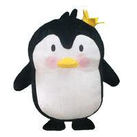 1.6M Penguin Inflatable Costume Carnival Costume For 1.2m to 1.48m Children Funny Party Dress Cosplay Halloween Costume for Kid