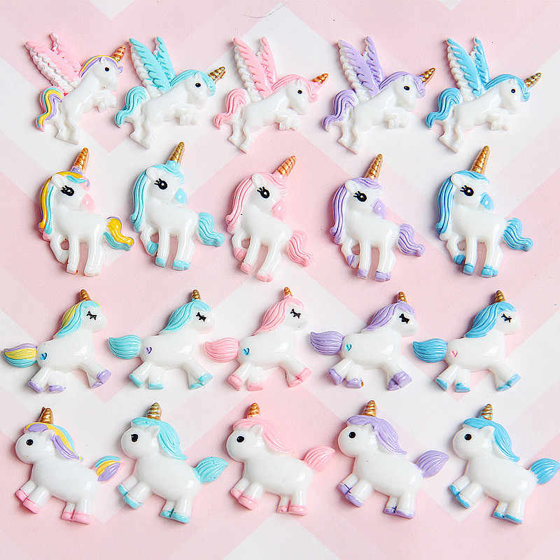 8PCS Slime Charms Christmas Resin Unicorn Plasticine Slime Accessories Beads Making Supplies for Kids DIY Lizun Slime for Kid E