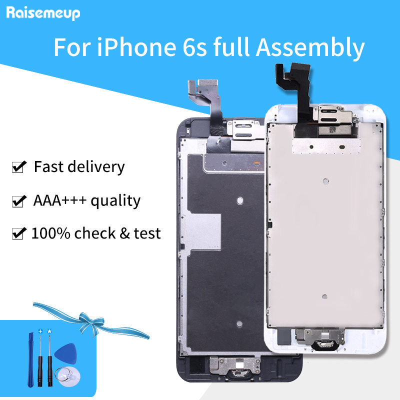 For iphone 6s A1633 A1688 A1700 Full Set LCD Complete Digitizer Assembly Replacement Parts with Touch Front Camera Speaker image
