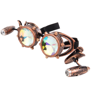 Steampunk Goggles Glasses Vintage Retro Welding Gothic Punk Sunglasses Kaleidoscope Colorful Glasses 1
