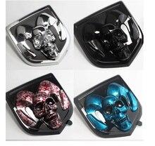 For new Dodge Ram Calibe 3D Car Head Grill Tailgate Stickers Metal Emblem Refitting Chrome Badge Sticker hea