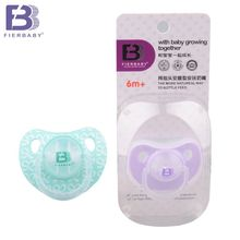 Hot!Fierbaby 4 colors Food Grade silicone single loaded bay thumb pacifier baby/newborn baby  sleep  pacifier suitable for 6m+