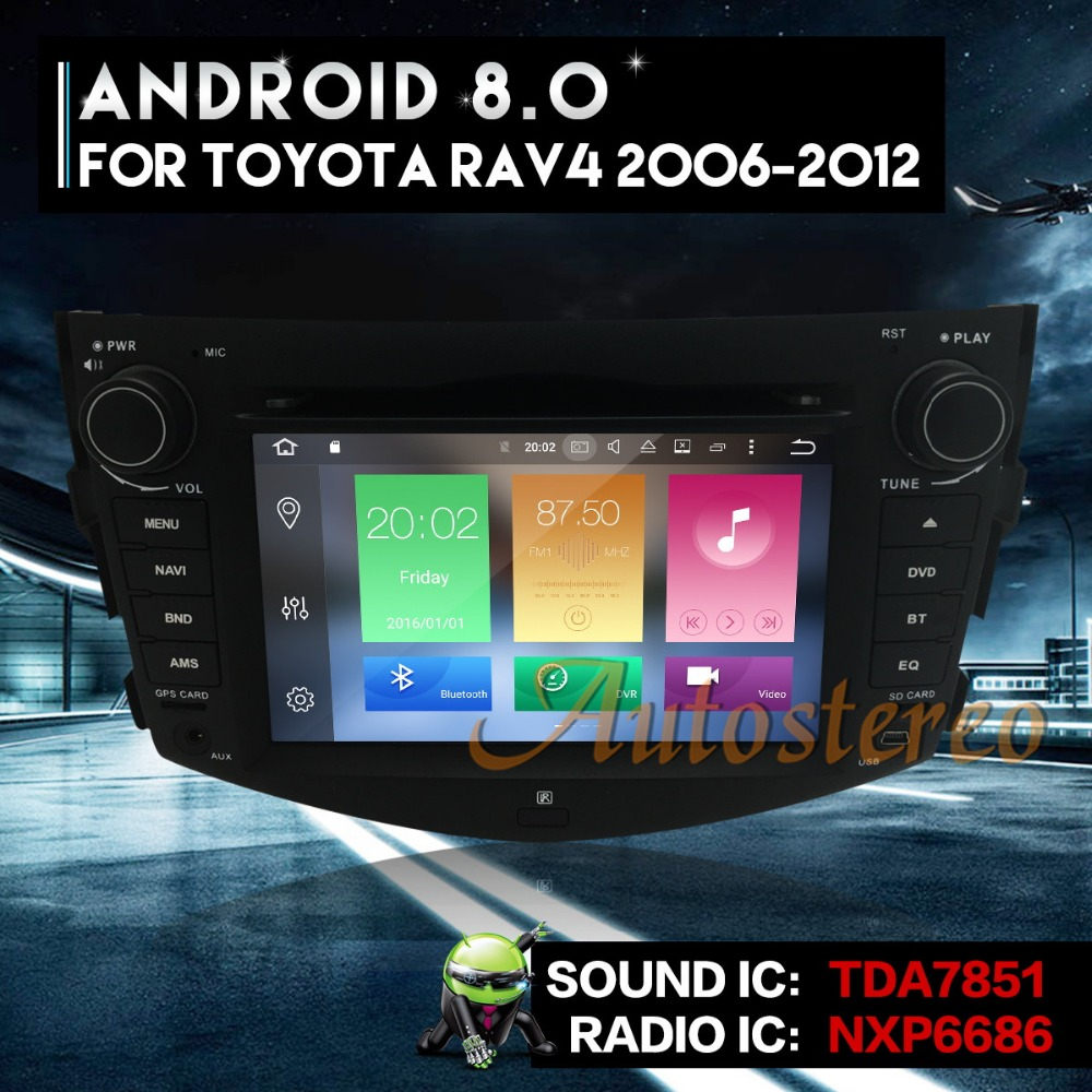Eight core CPU Android8.0 Car DVD Player For Toyota RAV4 2006-2012 GPS Navigation Auto Rra