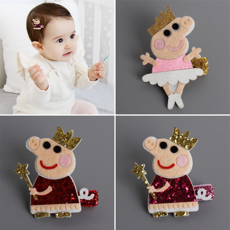 1 PCS New Cute Cartoon PP Pig kids Hair Clips Princess Barrette Girls Hair Accessories Baby Hairpins Gifts for Children Headwear аксессуар gembird usb 2 0 am mini 5p 0 9m cc usb2 am5p 3