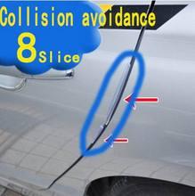 (8 piece/sets) 5 Colors Universal Simple Door Edge Guard Bumper Protector automotive anti-collision bar the door strip with glue
