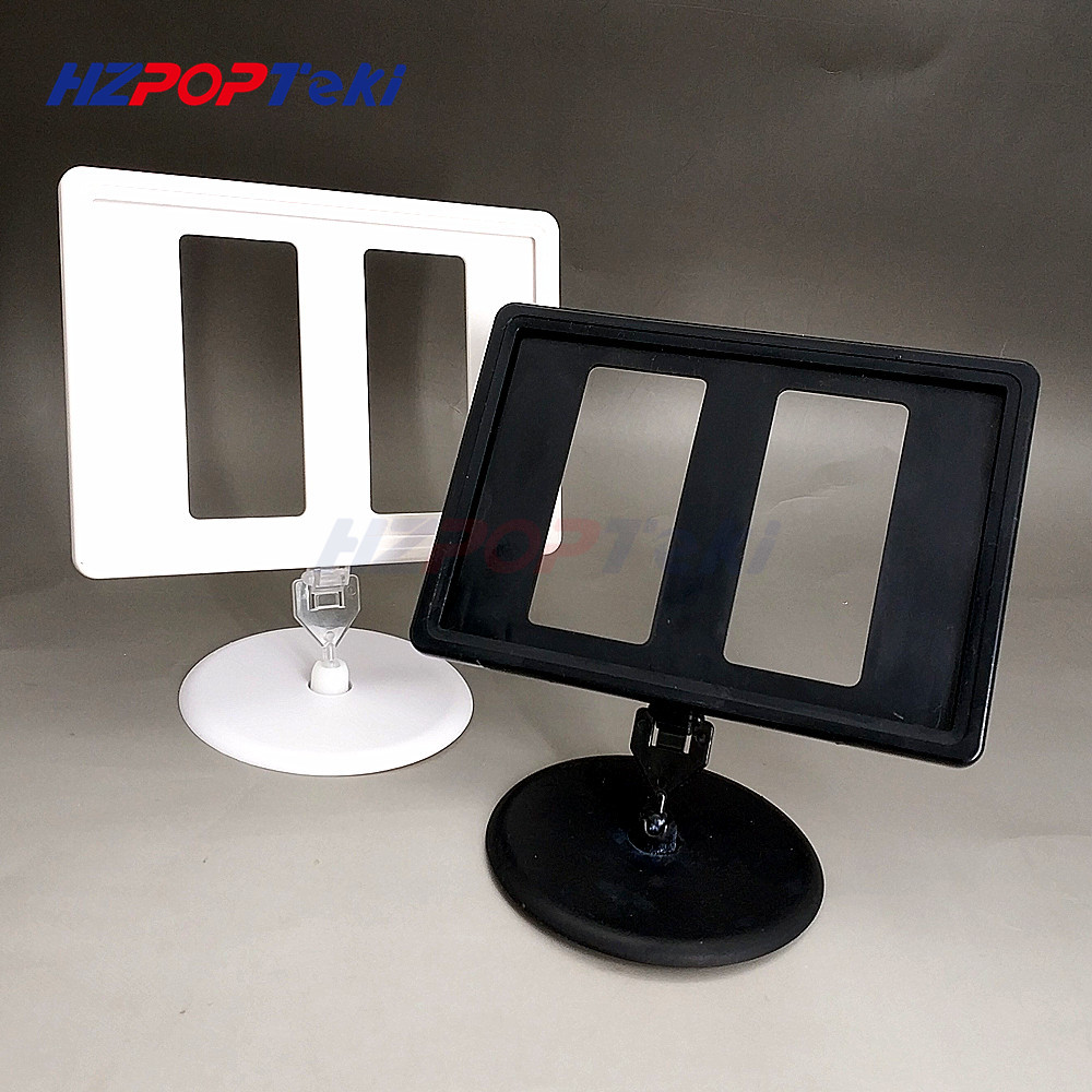 Plastic POP Price Tag Label Signs Card Paper Display Frame A6 By Round Plate Holders Frames For Stores Promotion 1000sets