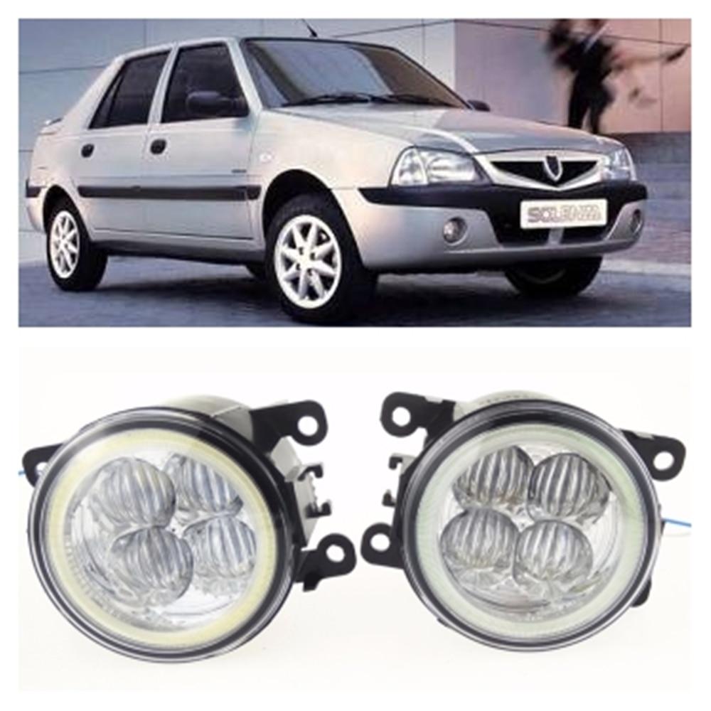 For DACIA SOLENZA Hatchback 2003 10W high brightness LED Angel eyes fog lights Car styling fog lamps for lexus rx gyl1 ggl15 agl10 450h awd 350 awd 2008 2013 car styling led fog lights high brightness fog lamps 1set