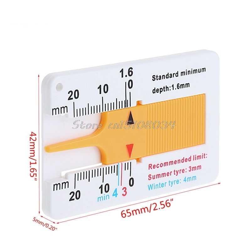 الإطارات مقياس عمق الخطوات سيارة الفرجار دراجة نارية قافلة مقطورة عجلة قياس أداة S08 بالجملة و دروبشيب