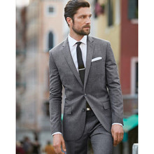 2017 Rushed Sale Flat Smoking Light font b Men b font Tuxedos Wedding Suits Notched Lapel
