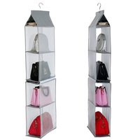 Hanging 3D Storage for women bags Non Woven fabric tidy bag wardrobe organizer small ziplock bags home organization and storage